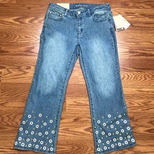 Michael Kors Jeans Embl Izzy Cropped Flare Slim W